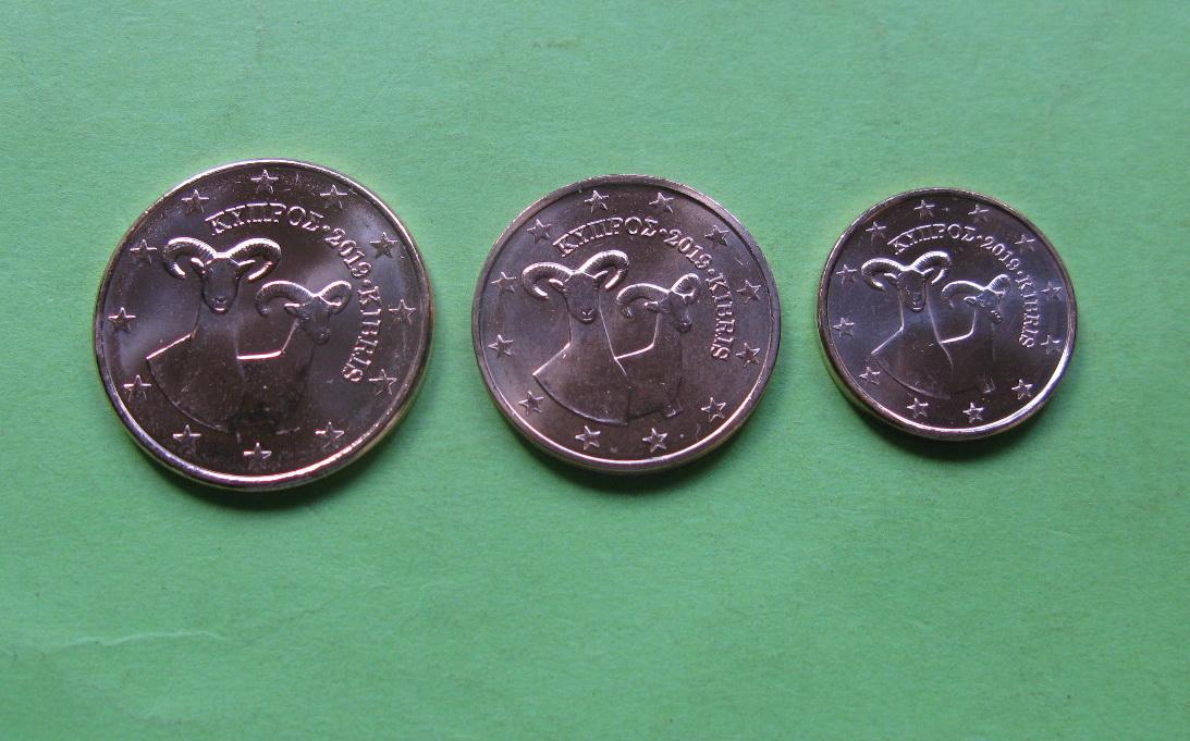Кипр 1,2,5 евро центов 2019 г.