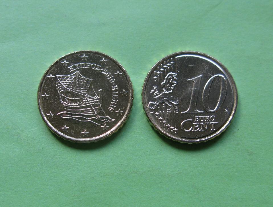 Кипр 10 евро центов 2019 г.