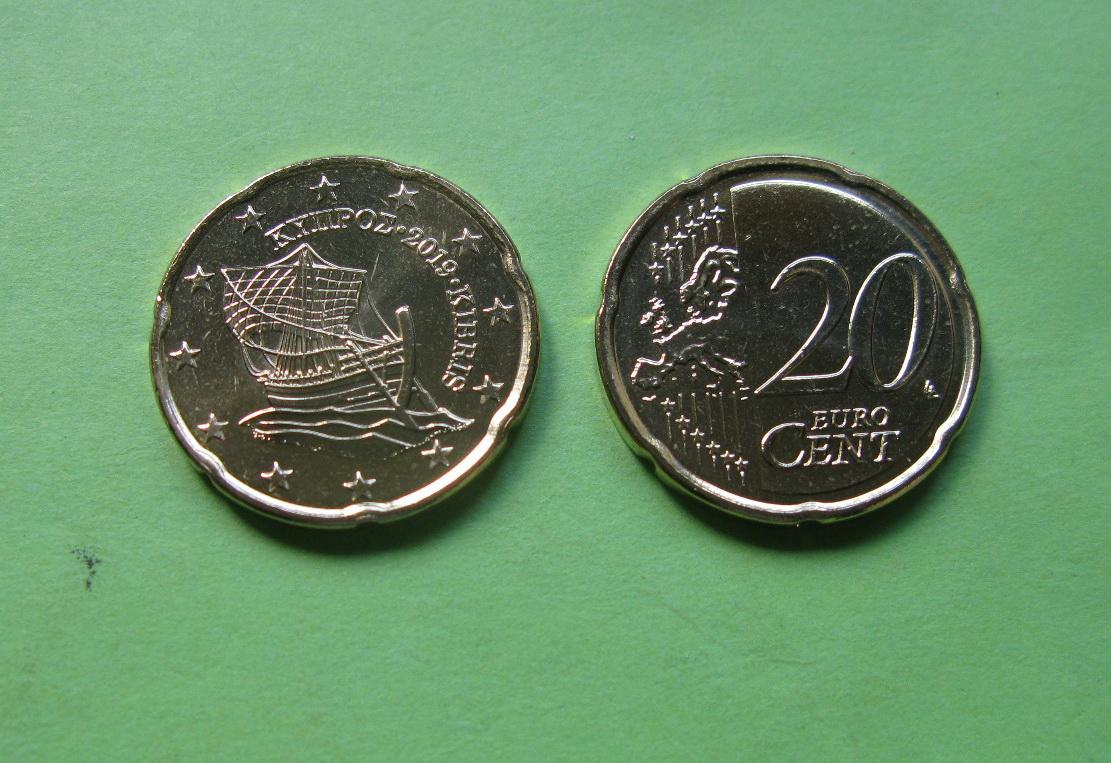 Кипр 20 евро центов 2019