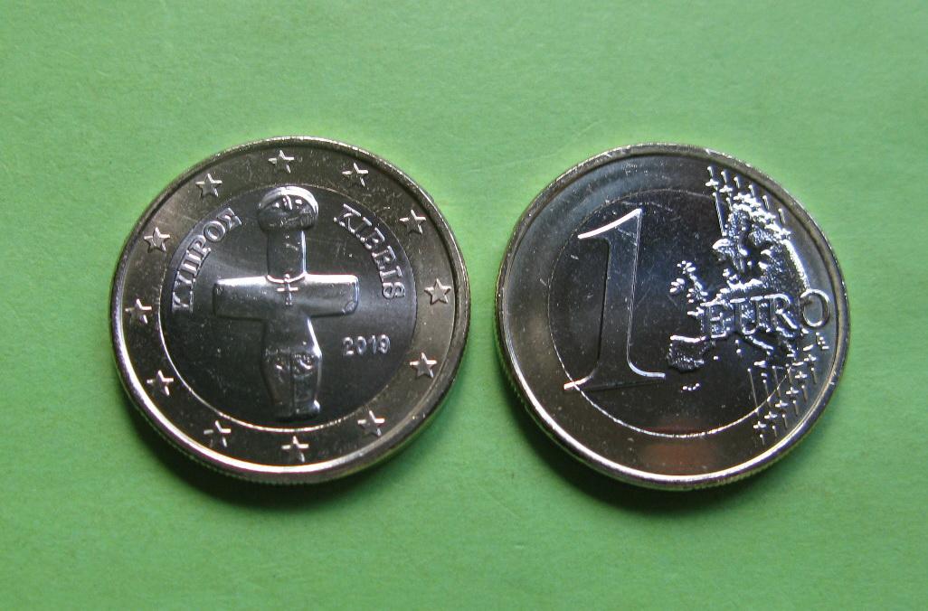 Кипр 1 евро  2019 г.