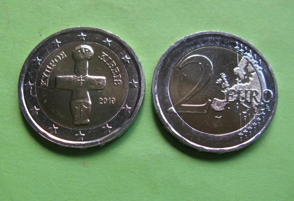 Кипр 2 евро  2019 г.