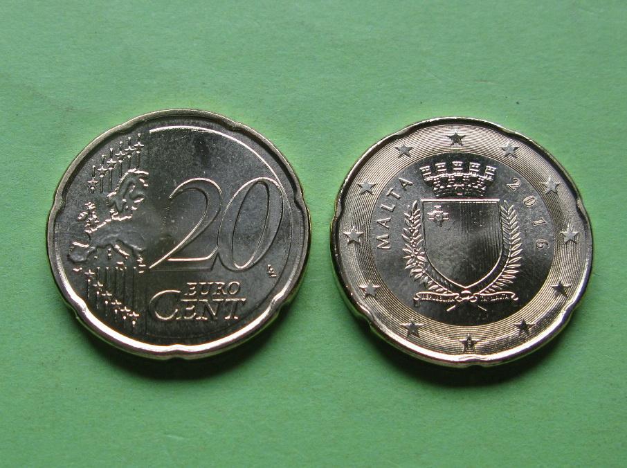 Мальта 20 евро центов 2016