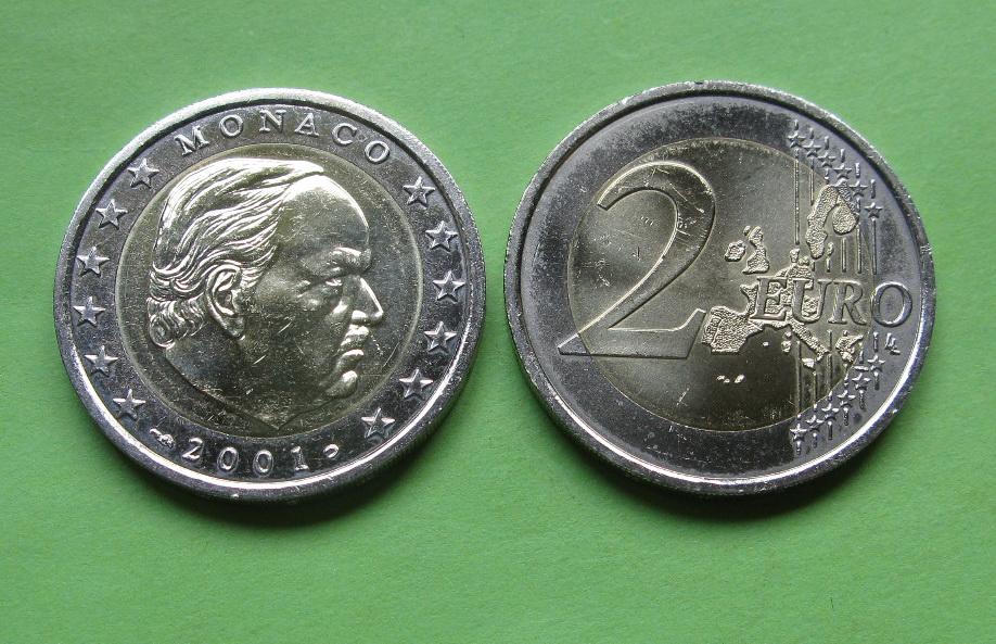 Монако 2 евро 2001 г. UNC