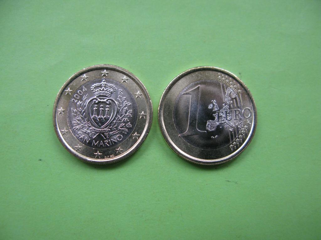 Сан Марино 1 евро 2004 г.