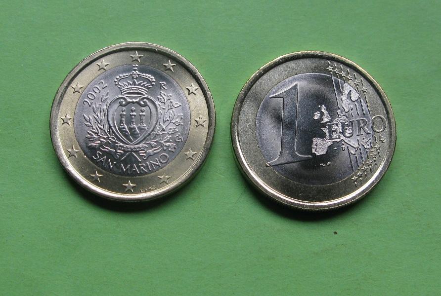 Сан Марино 1 евро 2002 г.