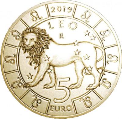 Сан Марино 5 евро 2019   Лев