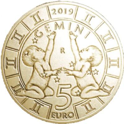 Сан Марино 5 евро 2019   Близнецы