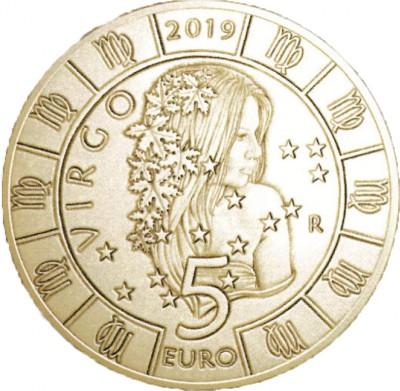 Сан Марино 5 евро 2019   Дева