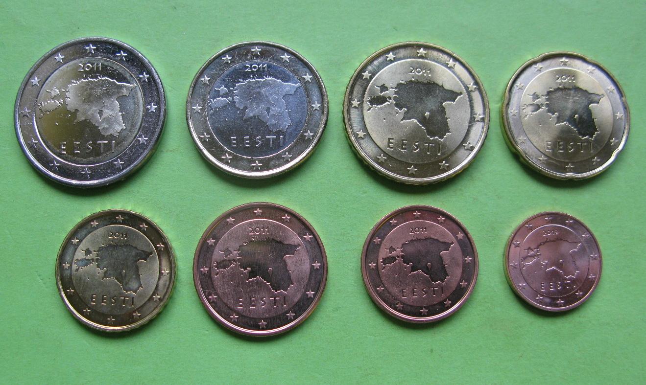 Эстония набор евро 2011-2018 г.