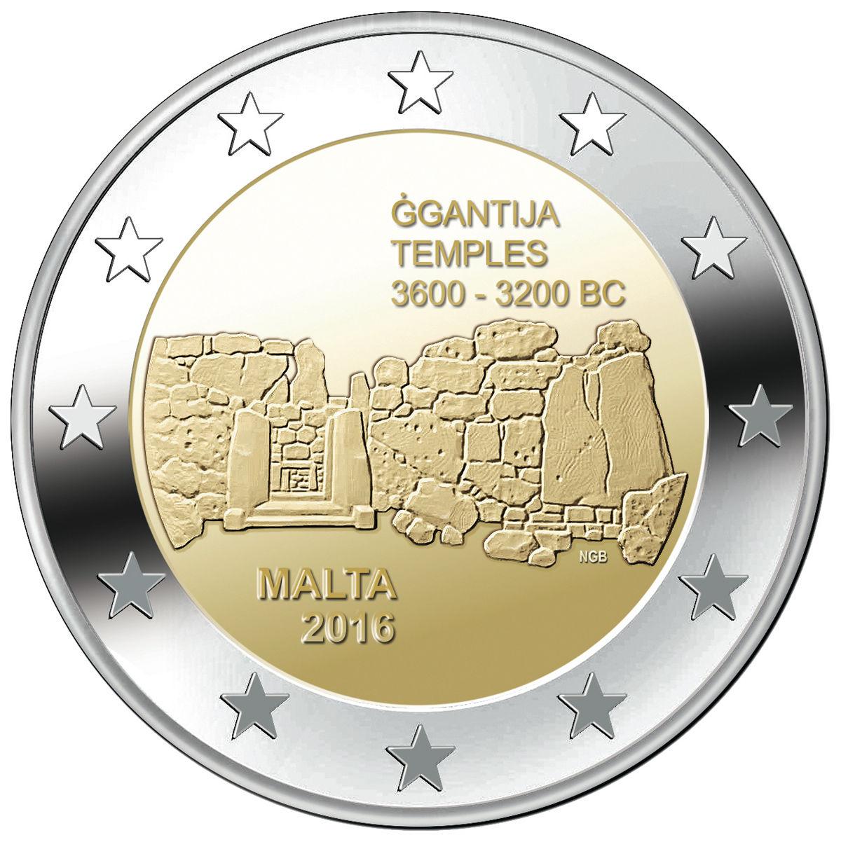 Мальта 2 евро 2016 г.  Джгантия