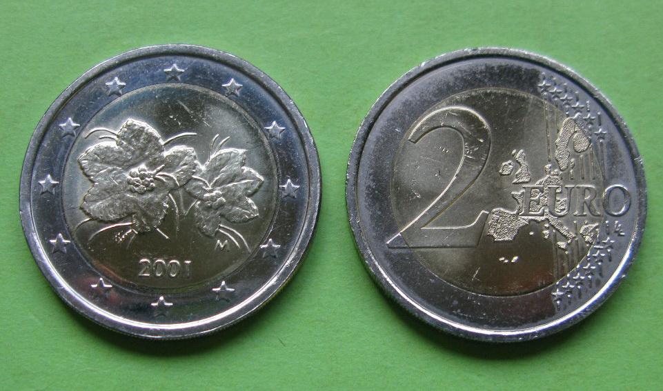 Финляндия 2 евро 2001 г. UNC