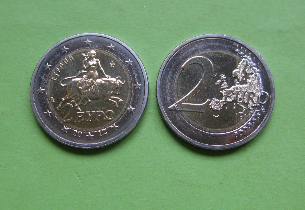 Греция 2 евро 2012 г. UNC