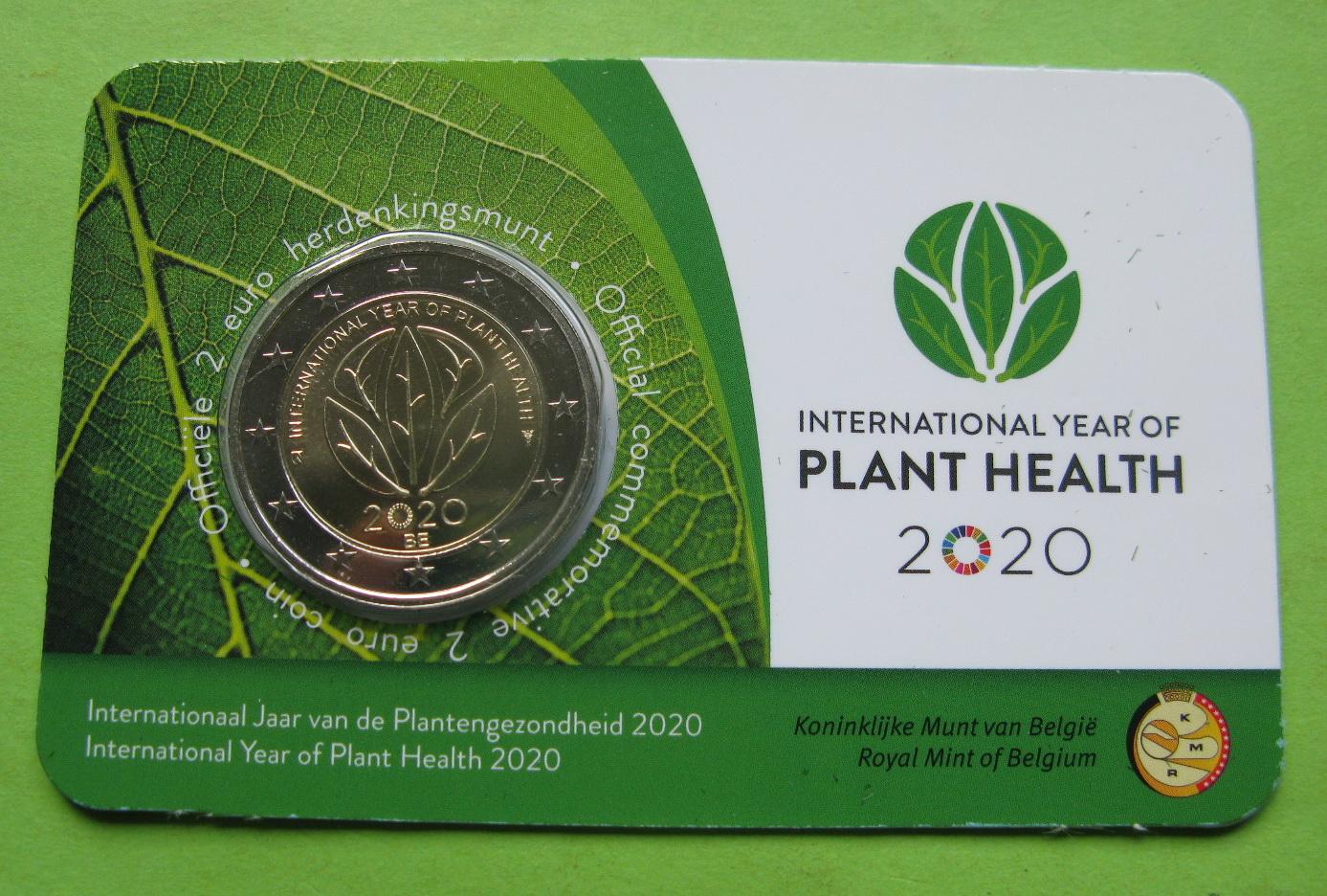 Бельгия 2 евро 2020 г. Международный год охраны здоровья растений.