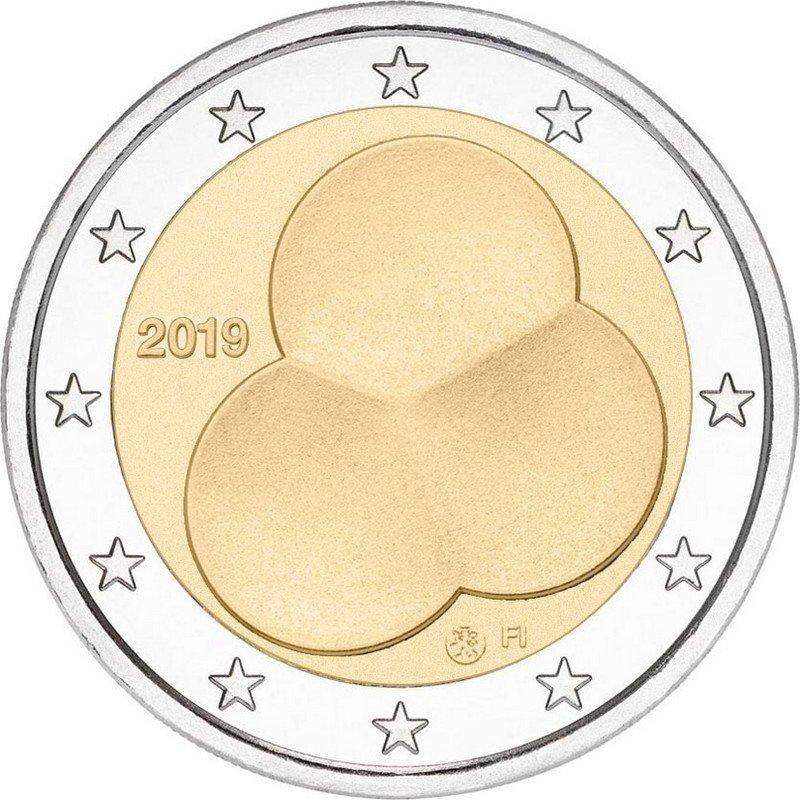 Финляндия 2 евро 2019 г. Конституция Финляндии 1919 года