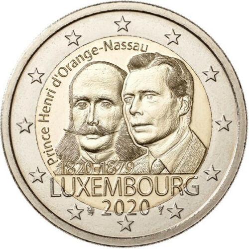 Люксембург 2 евро 2020  200 лет со дня рождения Генриха Оранско-Нассауского