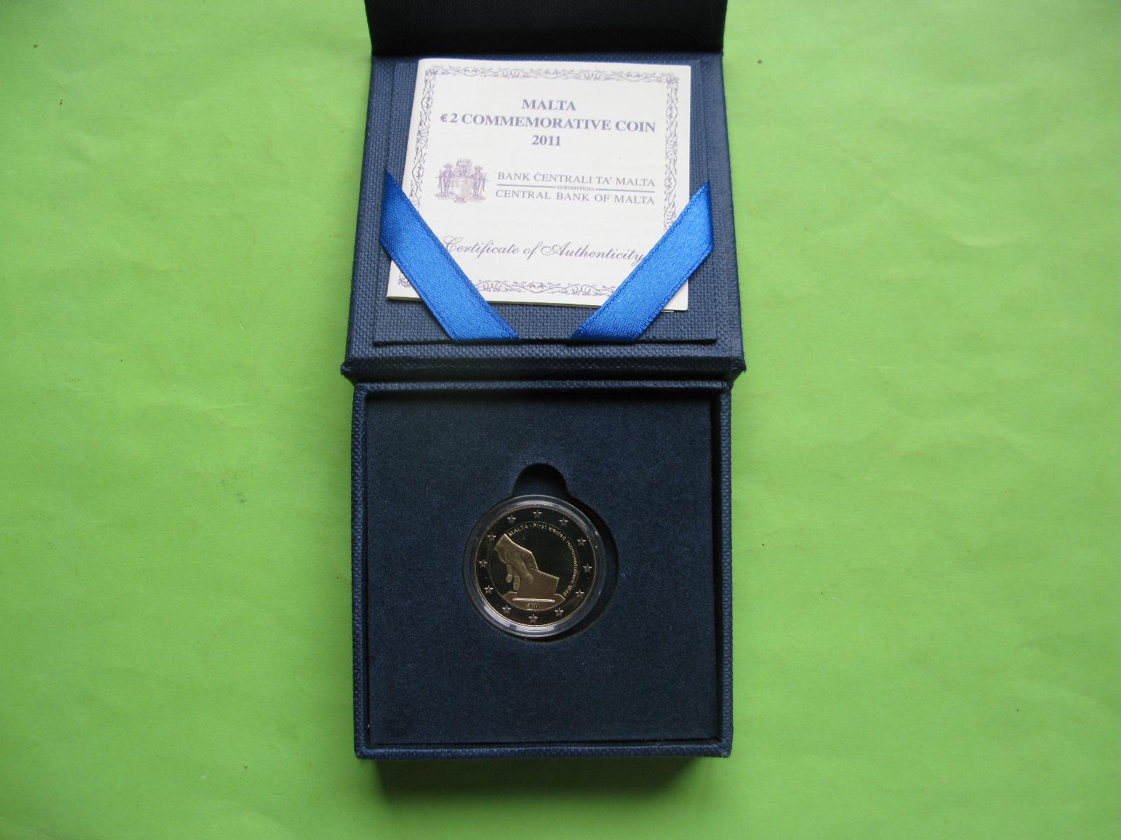 Мальта 2 евро 2011 г. Первые избранные представители совета(пруф)