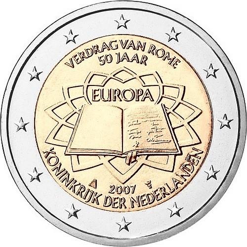 Нидерланды 2 евро 2007  Римский договор