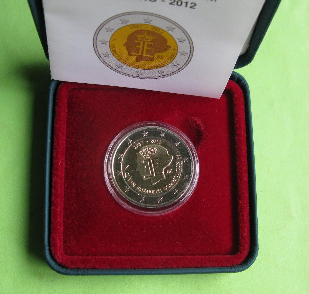 Бельгия 2 евро 2012 г. Конкурс королевы Елизаветы (пруф)