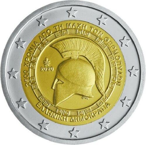Греция 2 евро 2020 г. 2500-летие битвы при Фермопилах