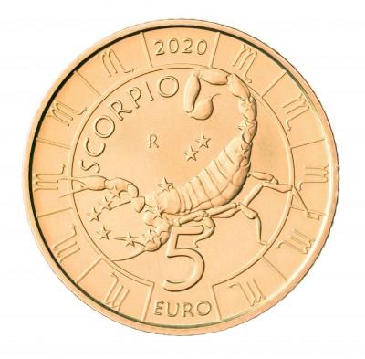 Сан Марино 5 евро 2020 Скорпион