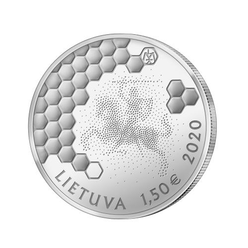 Литва 1,5 евро 2020 г. Древнее пчеловодство