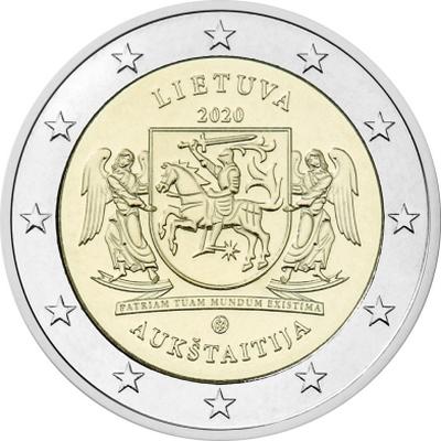 Литва 2 евро 2020 г. Аукштайтия