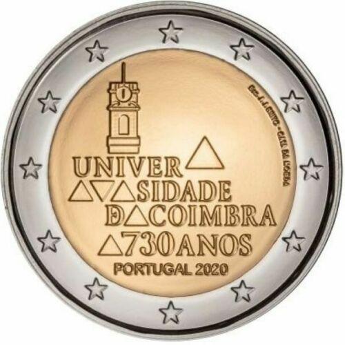 Португалия 2 евро 2020 г. 730-летие университета Коимбры