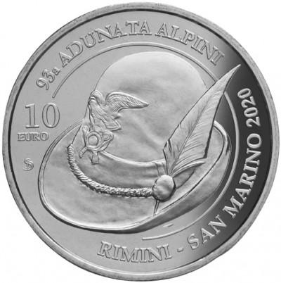 Сан Марино 10 Евро 2020 г. Ассоциация Альпини