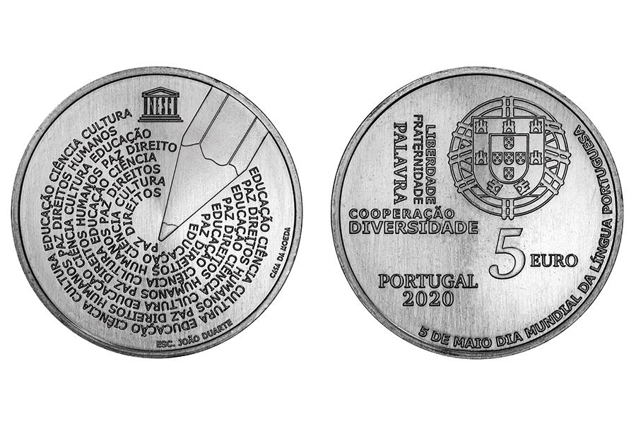 Португалия 5 евро 2020 г. Всемирный день португальского языка