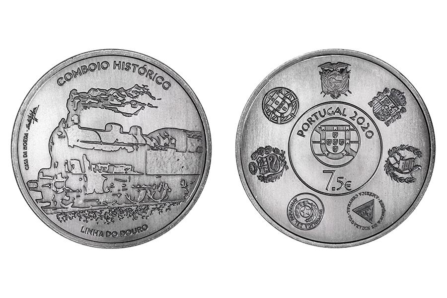 Португалия 7,5 евро 2020 г. Исторические поезда