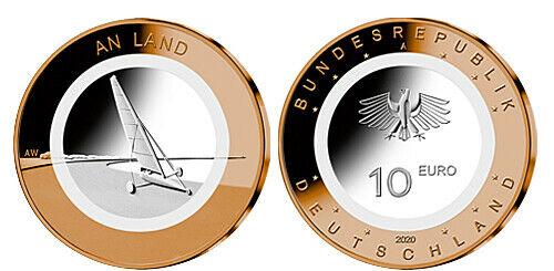 Германия 10 евро 2020 г. На земле (F)
