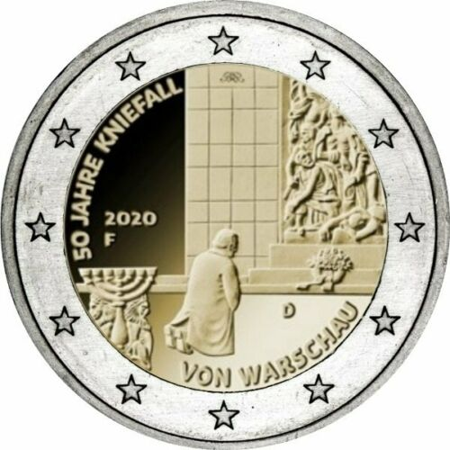 Германия 2 евро 2020 г. 50-летие коленопреклонения в Варшаве