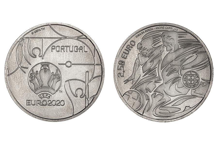 Португалия 2,5 евро 2020 г. Чемпионат Европы по футболу 2020