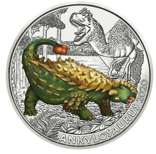 Австрия 3 евро 2020 г. Анкилозавр
