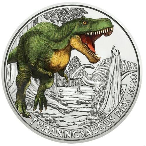 Австрия 3 евро 2020 г. Тираннозавр Рекс