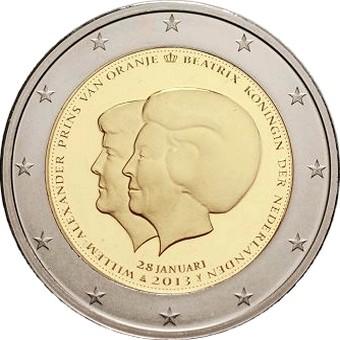 Нидерланды 2 евро 2013   Смена трона
