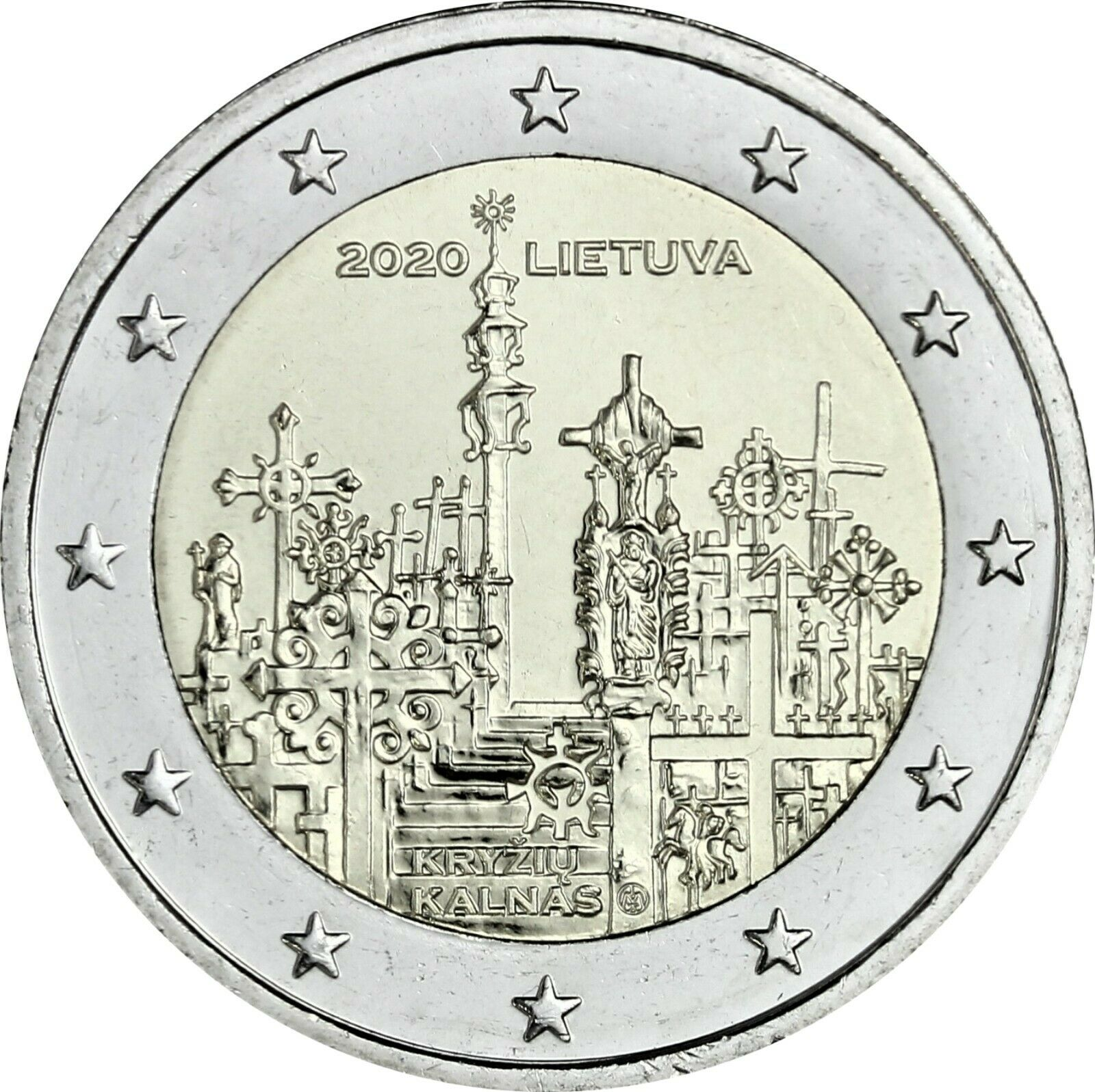 Литва 2 евро 2020 г. Гора Крестов