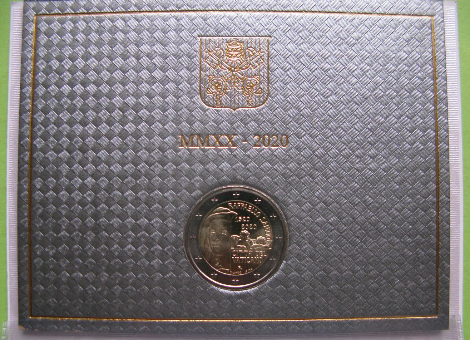Ватикан 2 евро 2020 г.500 лет со дня смерти художника Рафаэля
