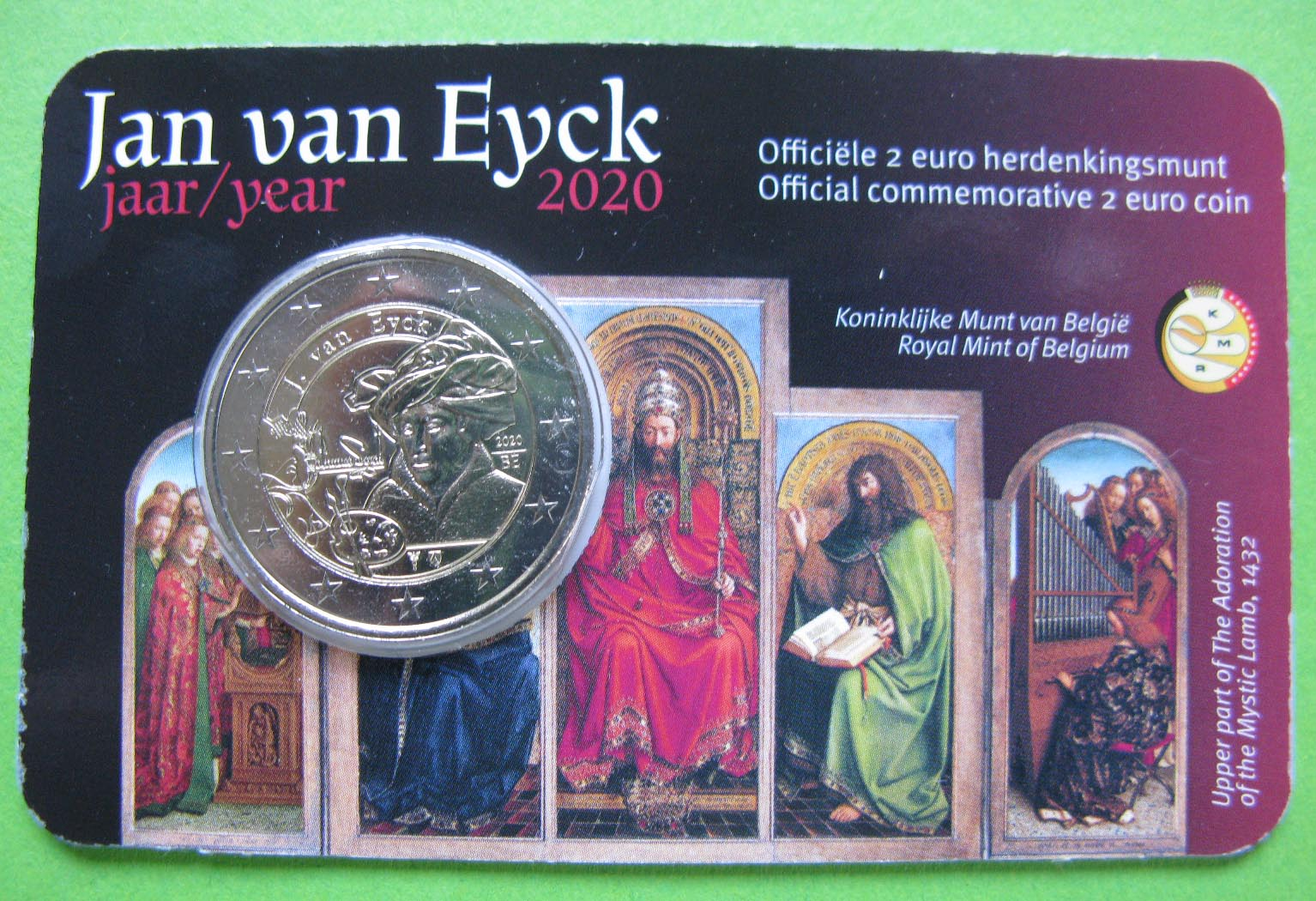 Бельгия 2 евро 2020 г. Ян ван Эйк