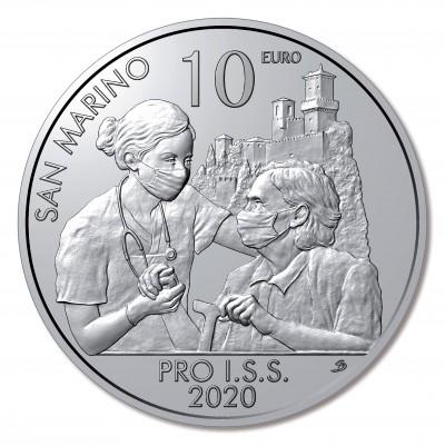 Сан Марино 10 евро 2020 г. Институт социального обеспечения