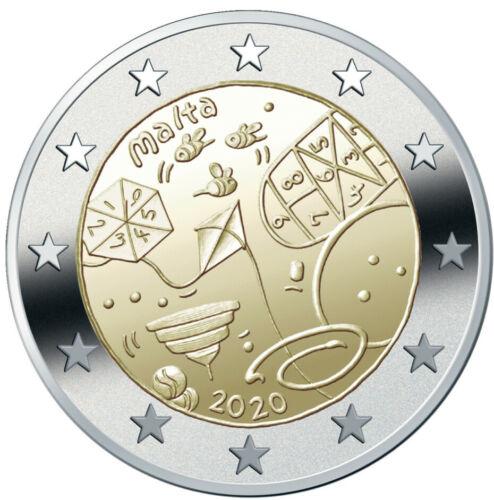Мальта 2 евро 2020 г. От детей в знак солидарности - Игры