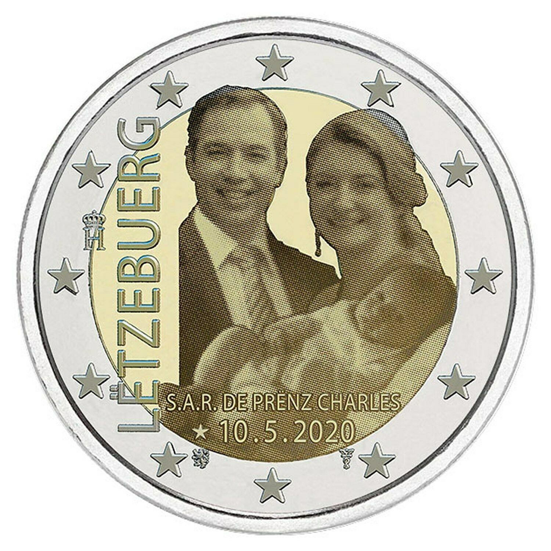 Люксембург 2 евро 2020 г. Рождение наследного Великого Герцога Чарльза (фото )