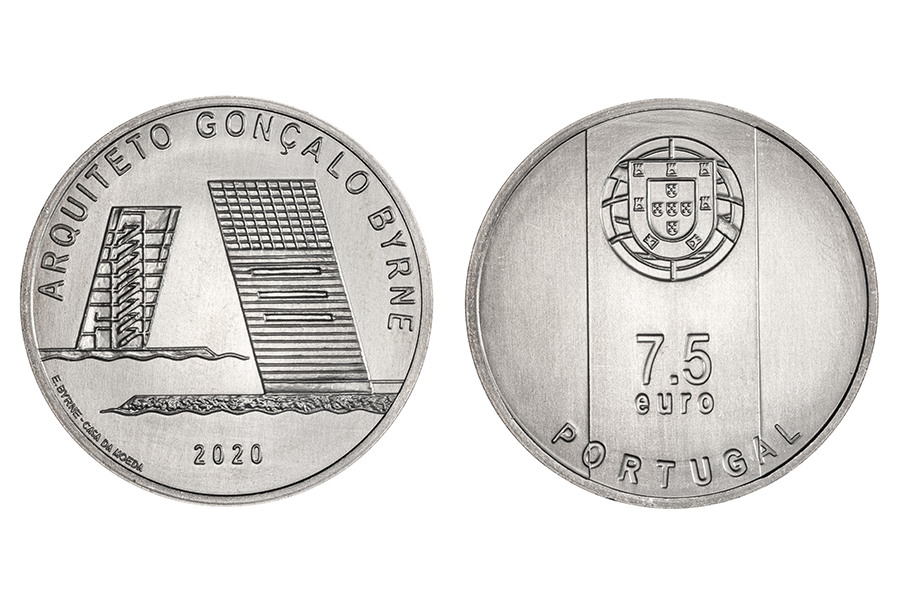 Португалия 7,5 евро 2020 г. Португальский архитектор - Гонсалу Бирн