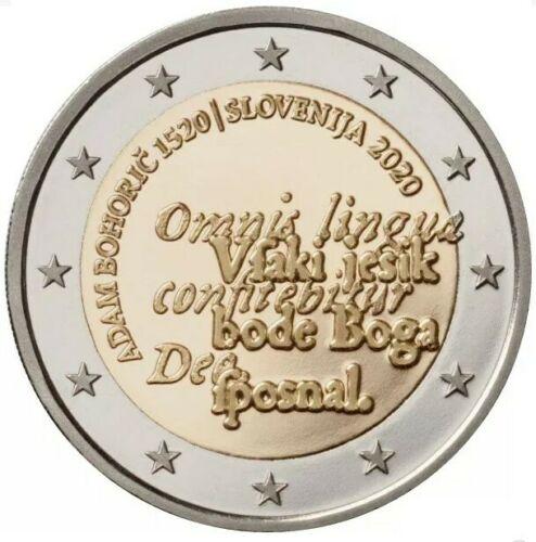 Словения 2 евро 2020 г. 500 лет со дня рождения Адама Бохорича