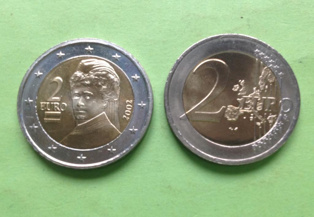 Австрия 2 евро 2002 г.
