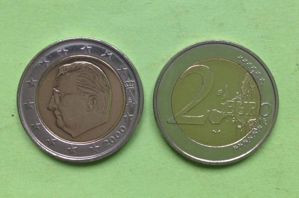 Бельгия 2 евро 2000 г.