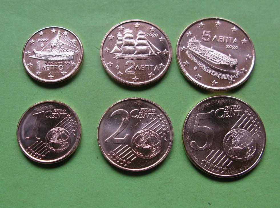 Греция 1,2,5 центов 2020 г.