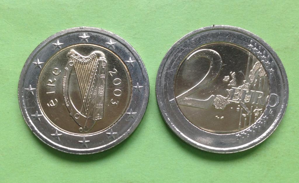 Ирландия 2 евро 2003 г.