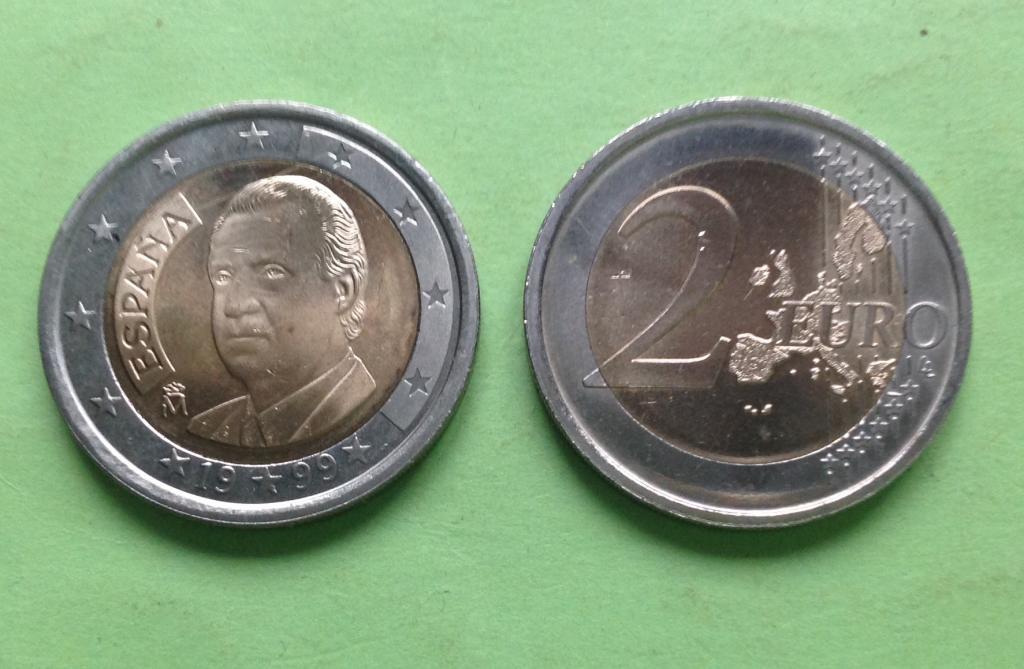 Испания 2 евро 1999 г.