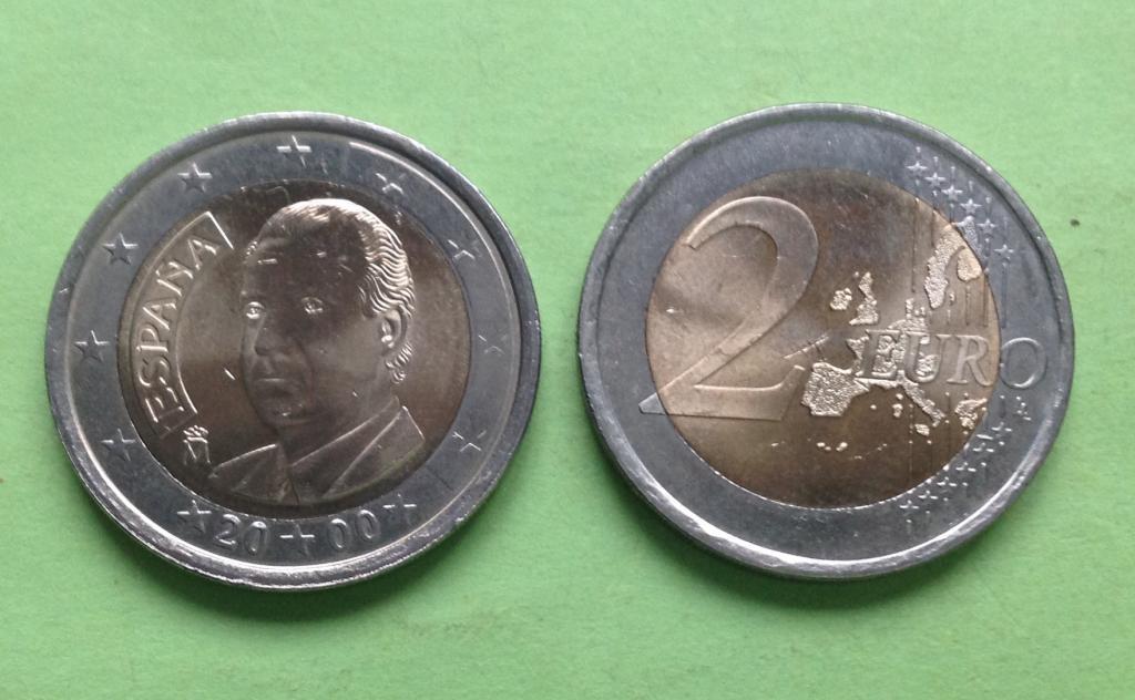 Испания 2 евро 2000 г.